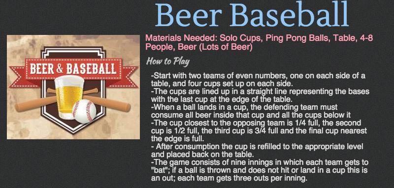Cottage Games - Beer Baseball